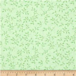 108'' Wide Quilt Backing Folio Vines Pale Green