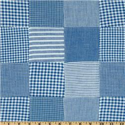 Kaufman Patchwork Shirting Blue