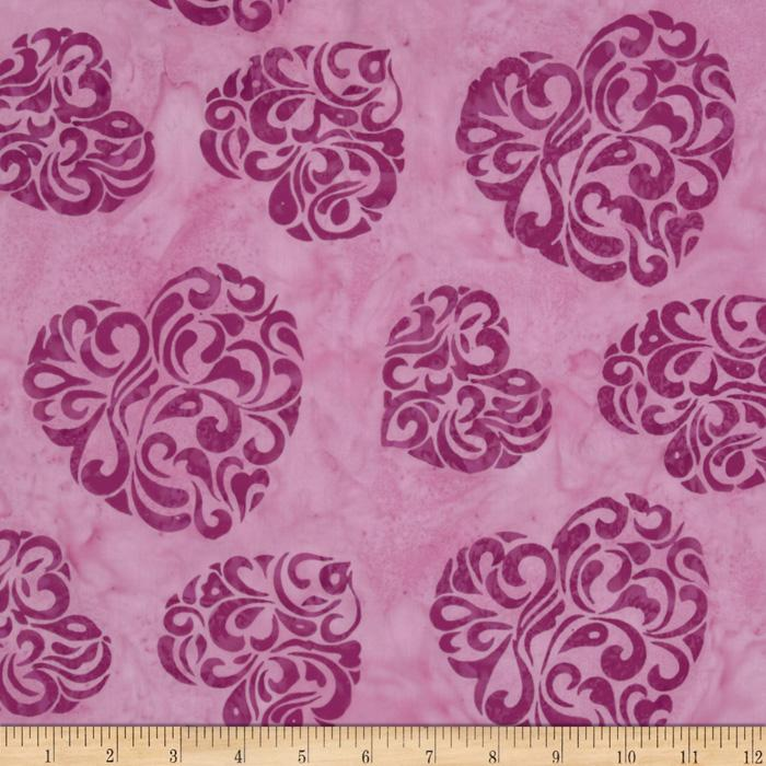 Bali Batiks Hearts Pink