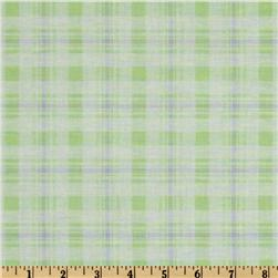 Baby Business Argyle Plaid Mint/Purple