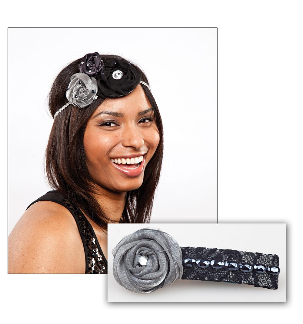 Laliberi Dark Coiled Roses Hair Accessory Kit