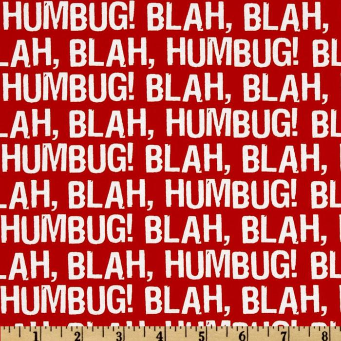 Maxine Christmas Blah Humbug Red
