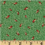 Moda Birds &  Berries Tiny Birds Leaf