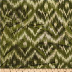 Hudson Bay Ikat Shirting Chevron Green