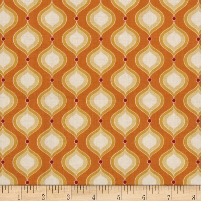 Riley Blake Flutter Petals Orange