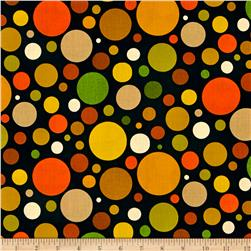 Season's Best-Fall Bubble Dots Brown