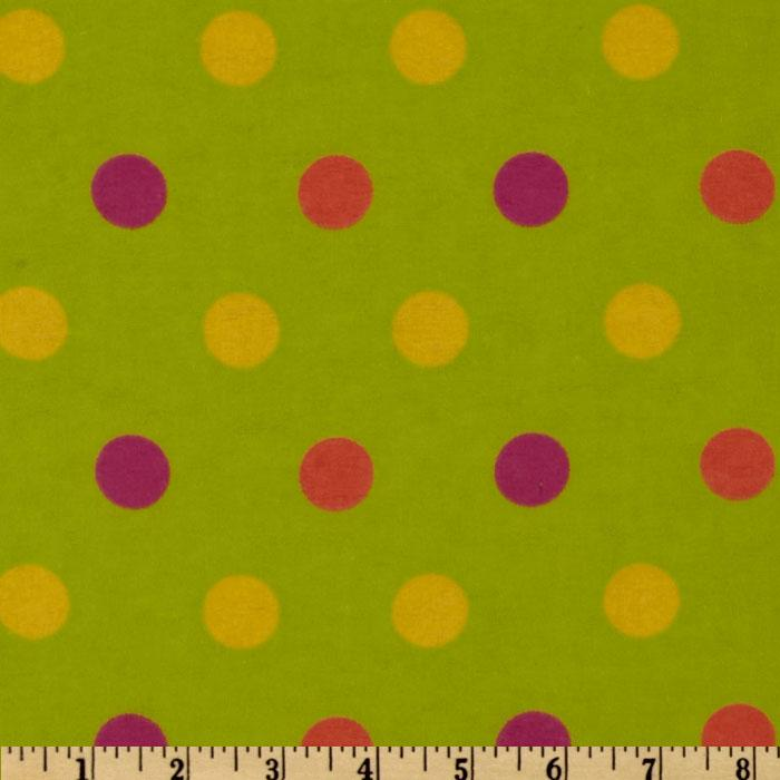 Flannel Large Dot Green/Multi