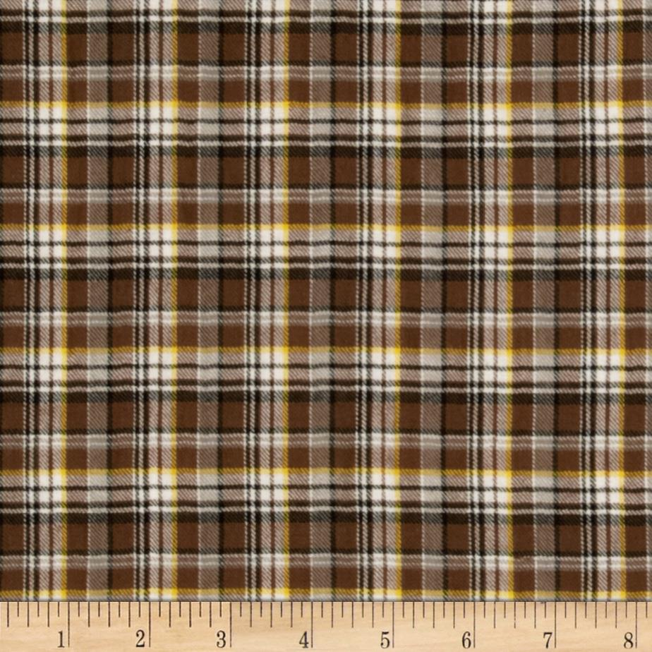 Yarn Dyed Shirting Plaid Brown