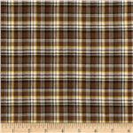 0264994 Yarn Dyed Shirting Plaid Brown