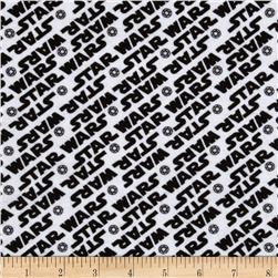 Star Wars Flannel Words White