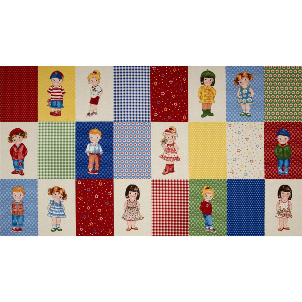 Today's Paper Dolls Blocks Panel Multi`