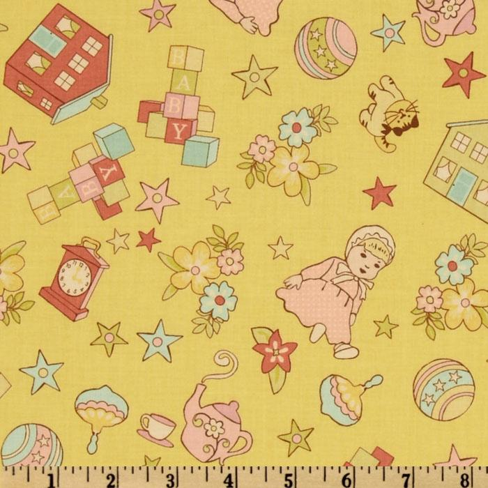 Vintage Baby Baby Motifs Yellow