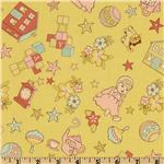 FI-702 Vintage Baby Baby Motifs Yellow