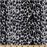 UP-195 Stretch Cotton Sateen Leopard Grey/Black