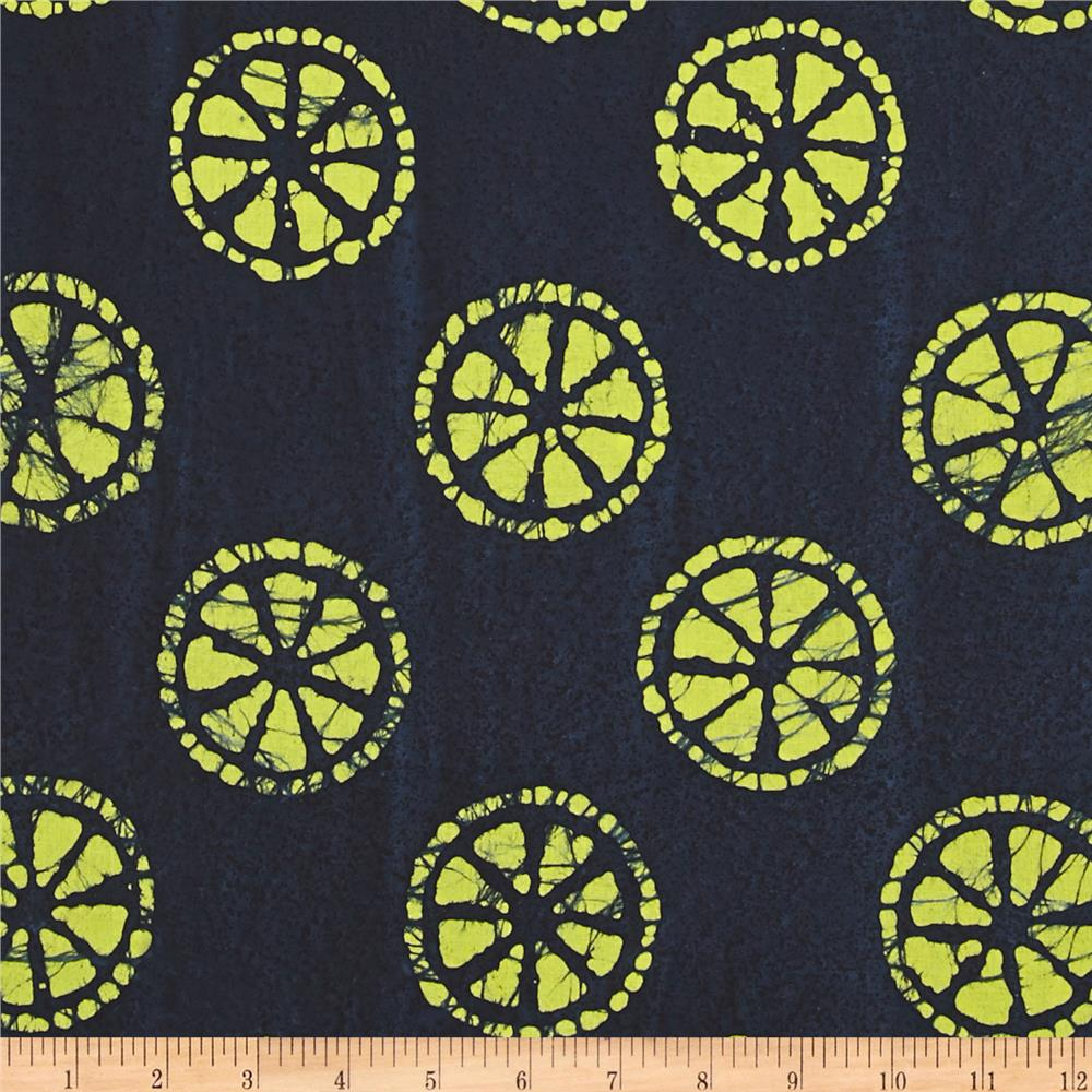Indian Batik Lemondrop Navy
