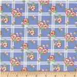0291936 Aunt Grace First Place Floral Plaid Blue