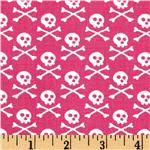 EG-982 Premier Prints Crossbones Candy Pink/White