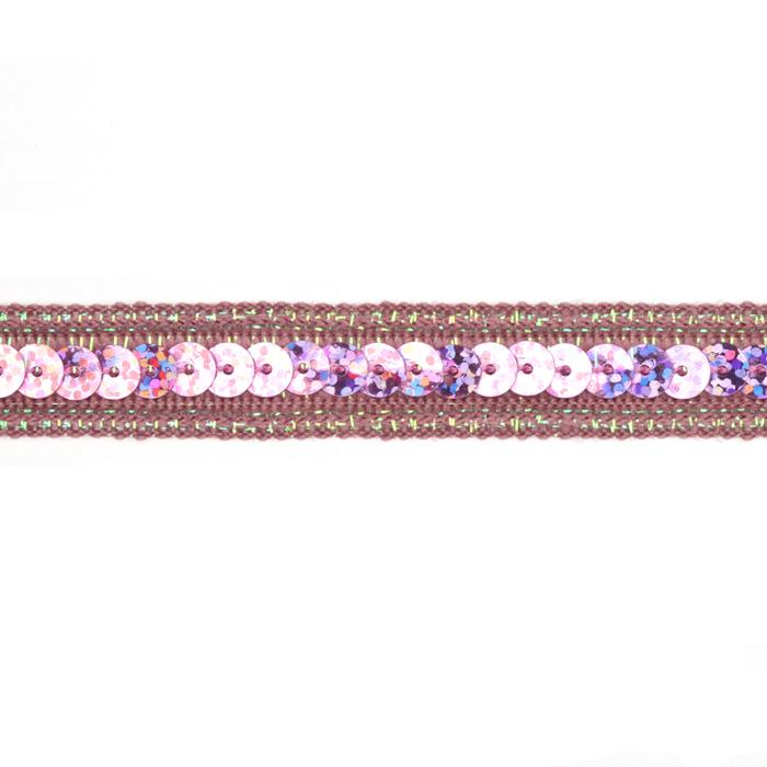 1/2'' Hologram Sparkle Sequin Trim Pink