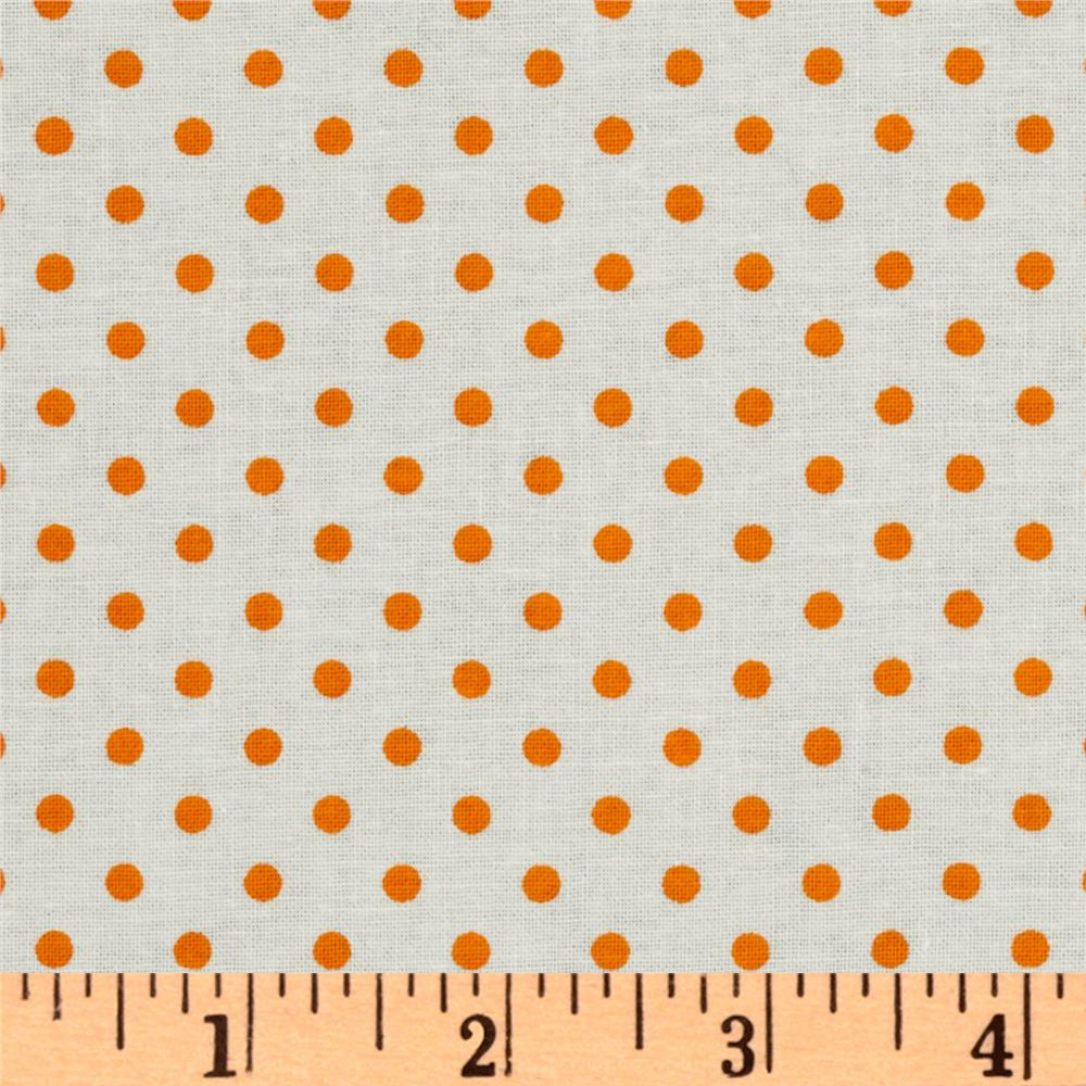 Crazy for Dots &amp; Stripes Dottie White/Orange