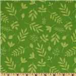 Riley Blake Zoofari Organic Leaves Green