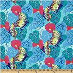 214401 Butterflies &amp; Flowers Pipevine Butterflies Aqua