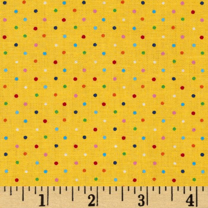 Brights & Pastels Basics Pindot Multi/Yellow