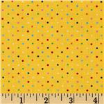 &#39;Brights &amp; Pastels Basics Pindot Multi/Yellow
