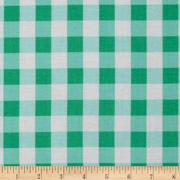 Tea Cakes Checkered Napkin Jade