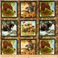 Four Seasons Wee Wild Life Panel Blocks Brown