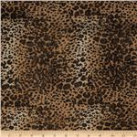 Safari Shimmer Stretch ITY Knit Spots Gold/Tan