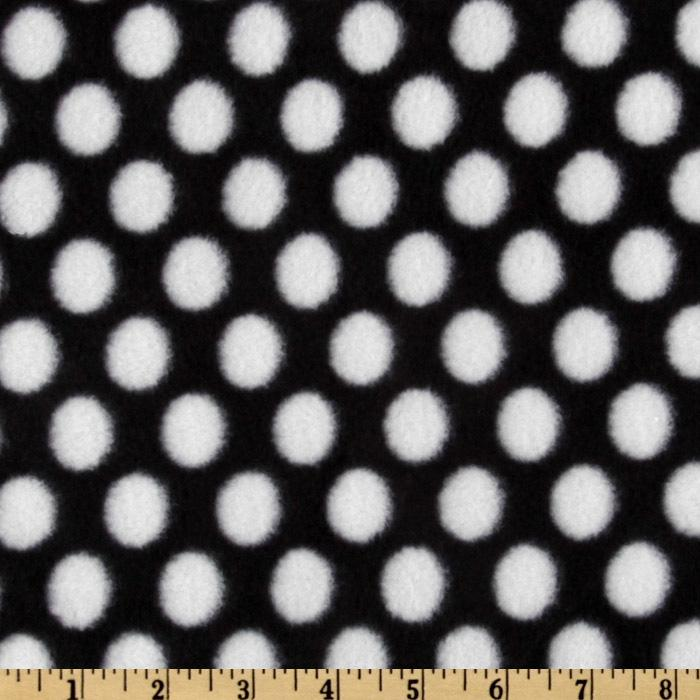 WinterFleece Medium Dot Black/White