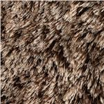 Faux Fur Frosted Shag Chocolate