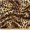 Charmeuse Satin Big Cheetah Tan/Brown/Black