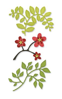 Sizzix Sizzlits Die Set 3PK Flowers, Branches & Leaves Set Medium