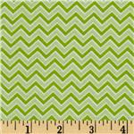0271515 Alpine Flannel Basics Chevron Green
