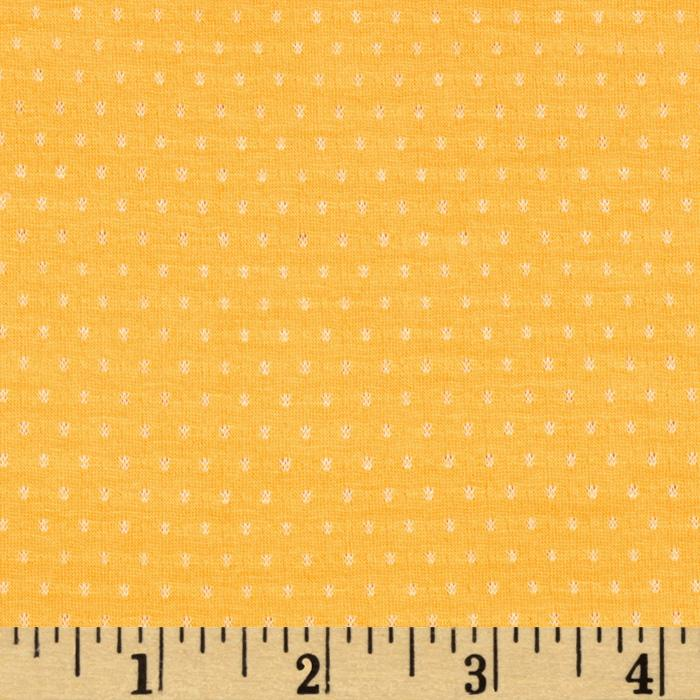 Rayon Blend Woven Dot Jersey Knit Yellow
