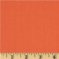 Moda Chirp Chirp Dotted Check Sunset Orange