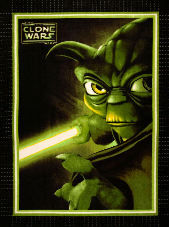 No Sew Fleece Throw Kit Clone Wars Yoda