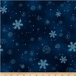 Chilly Silly Snowmates Snowflakes Blue