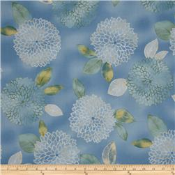 Pen & Ink Chrysanthmum Spring Blue
