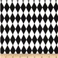 Harlequin Stretch Cotton Sateen Harlequin Black/White