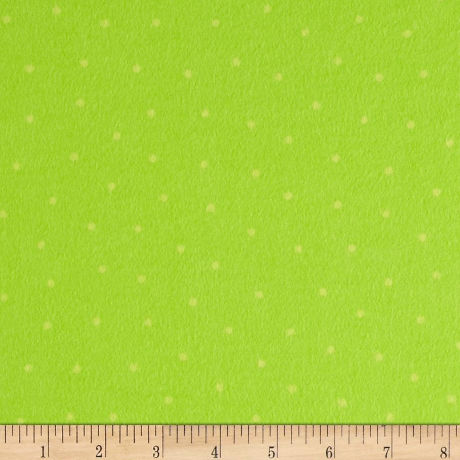 Bundle Of Joy Flannel Dots Green