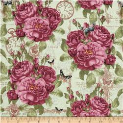 Provencial Allover Rose Light Green