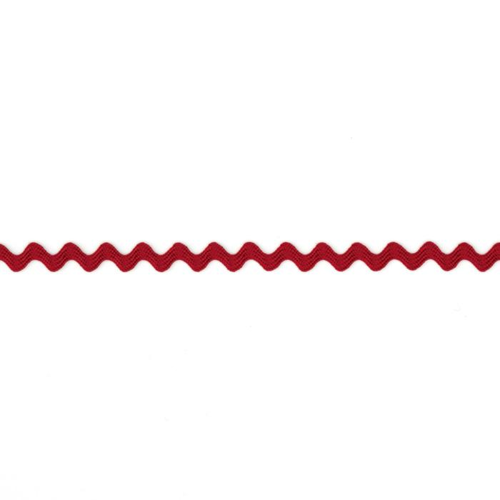 "1/8"" Ric Rac Rayon Mini Trim Red"