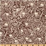 FI-023 Liberty Of London Tana Lawn Hello Kitty Music Festival Brown