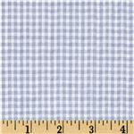 BU-580 Woven Poly/Cotton Seersucker Gingham Light Blue