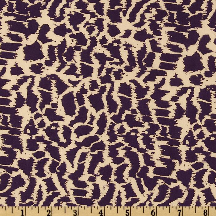 Venice Stretch Jersey Knit Abstract Purple