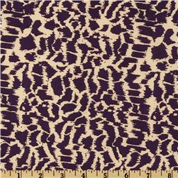 Venice Stretch ITY Jersey Knit Abstract Purple