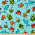 Flannel Under Sea Turquoise