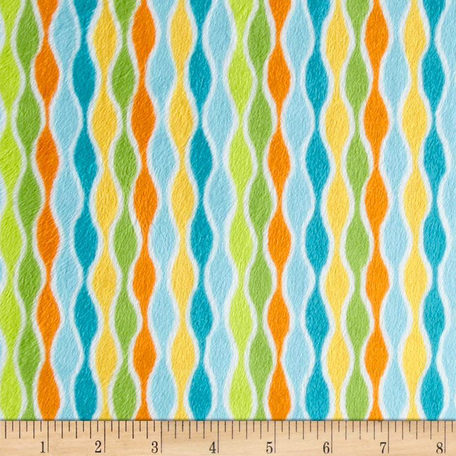 Minky Cuddle Izzy Stripe Green/Blue